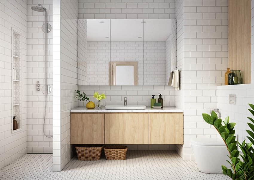 Full bathroom conversion contemporary design