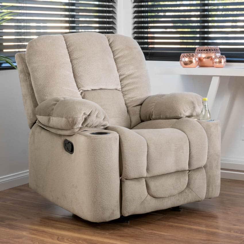 Glider recliner chair wood floor