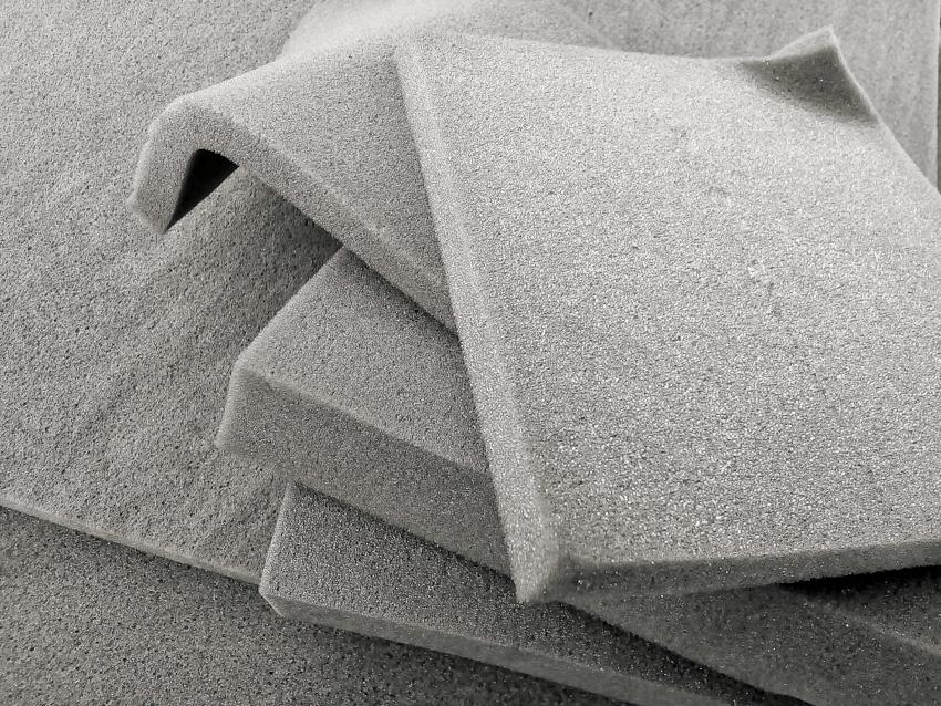 Gray polyurethane foam