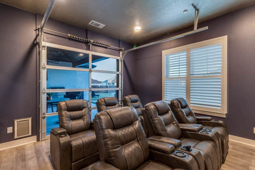 Home theater with recliner chairs