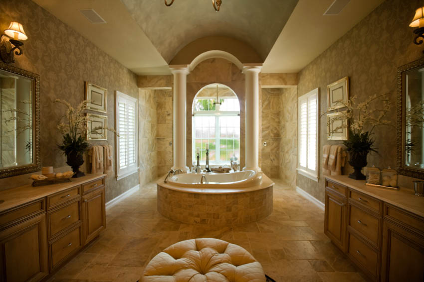 luxury-bathroom-with-travertine-tiles-and-walls-is