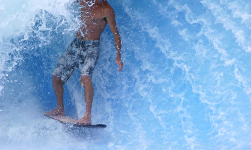 Man surfing powerful waves