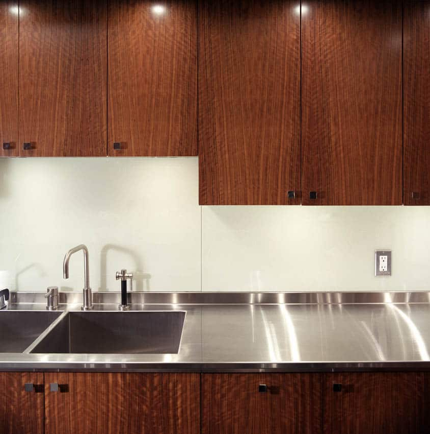 Maple cabinets kitchen stainless steel countertops