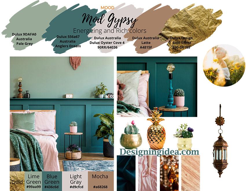 Modern gypsy bohemian paint colors