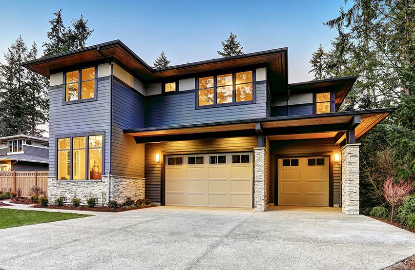 Modern home with garage with ADU
