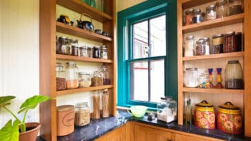 Modern kitchen with pantry storage