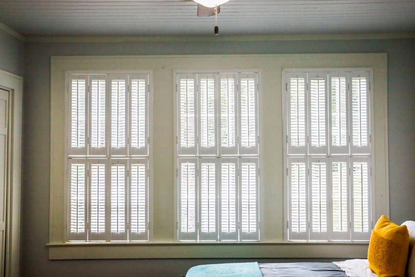 Multi tier shutters window
