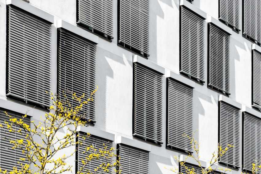 Multiple exterior shutters