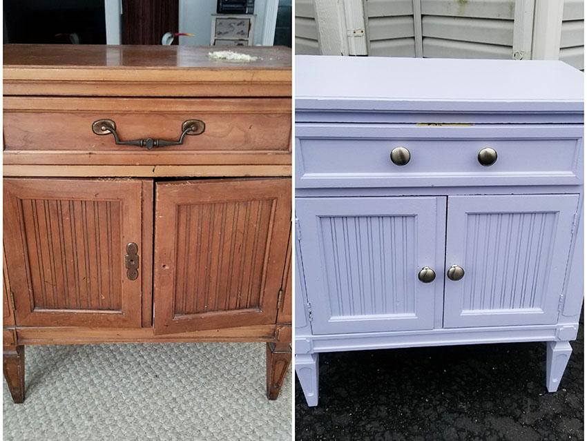 Old drawer refurbished