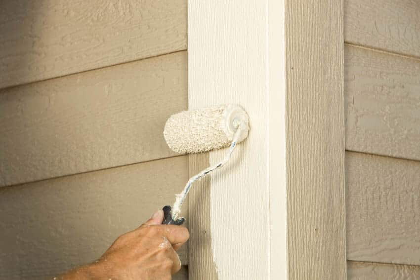 Painting siding with paint roller