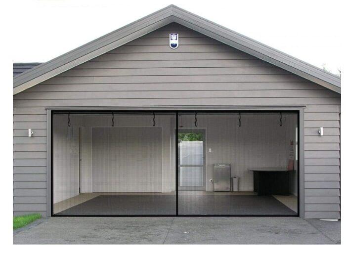 Patio and garage doors retractable screen