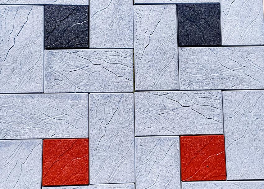 Pinwheel pattern brick