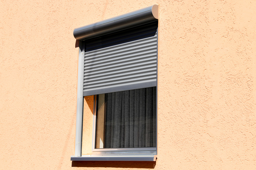 Rolling shutters window house exterior