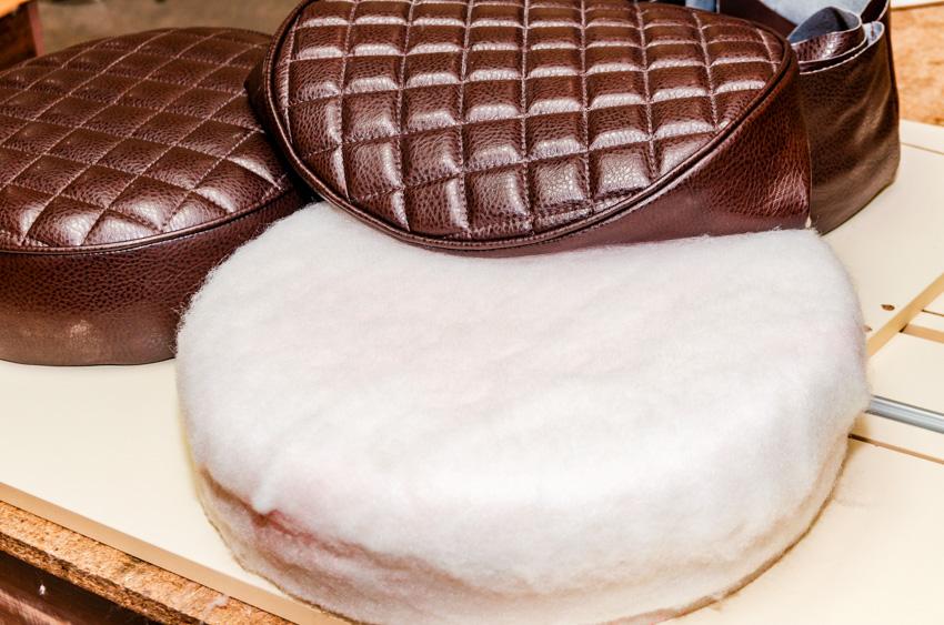 Round cushion seats foam upholstery
