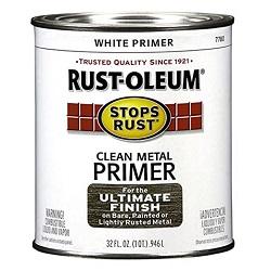 Rust oleum flat white clean metal primer