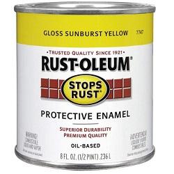 Rust oleum protective enamel oil base paint