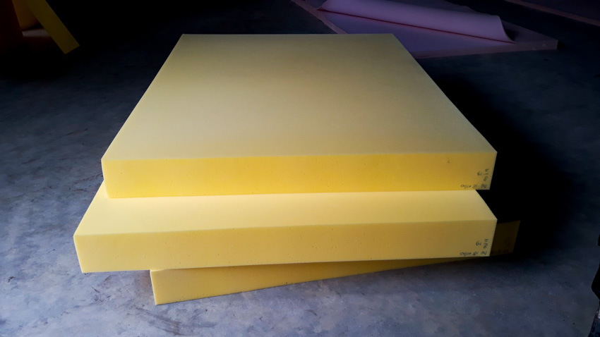 Sheets of foam for upholstery