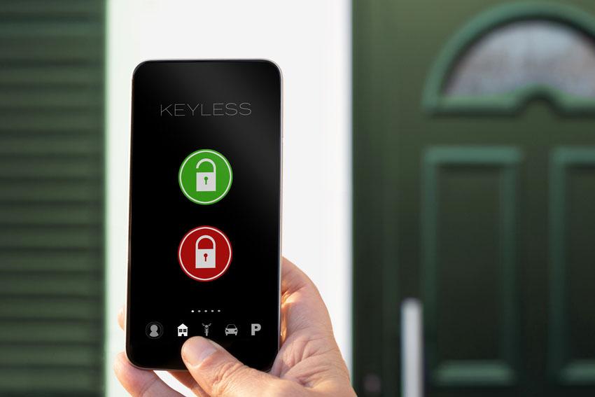 Smart window lock smartphone app