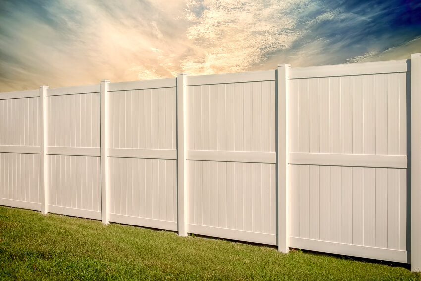 Solid privacy with 6 foot vinyl fence