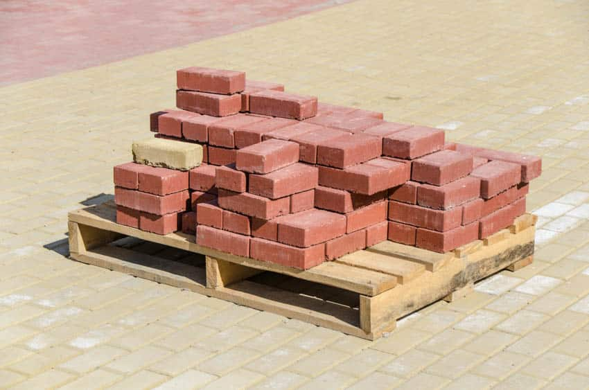 Stack of fire rated bricks