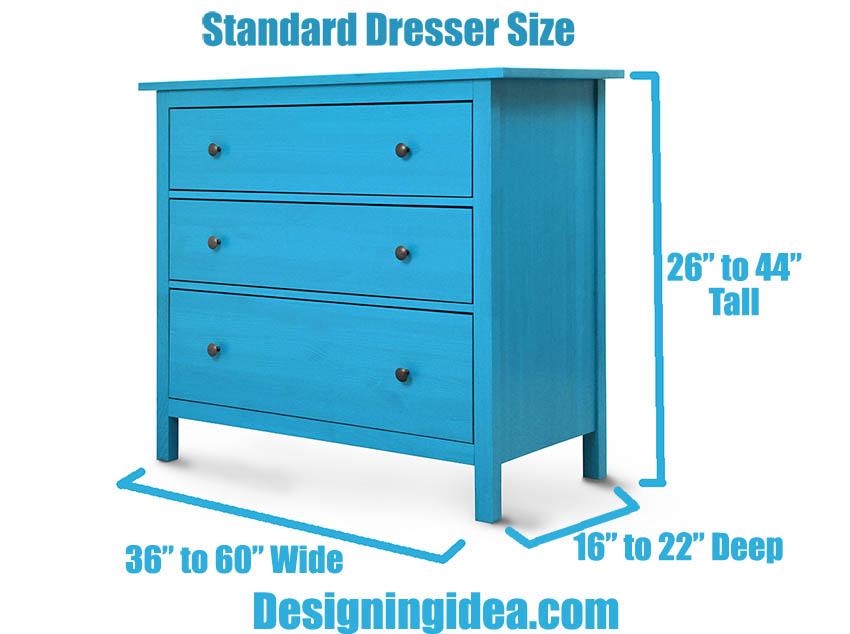 Standard dresser size