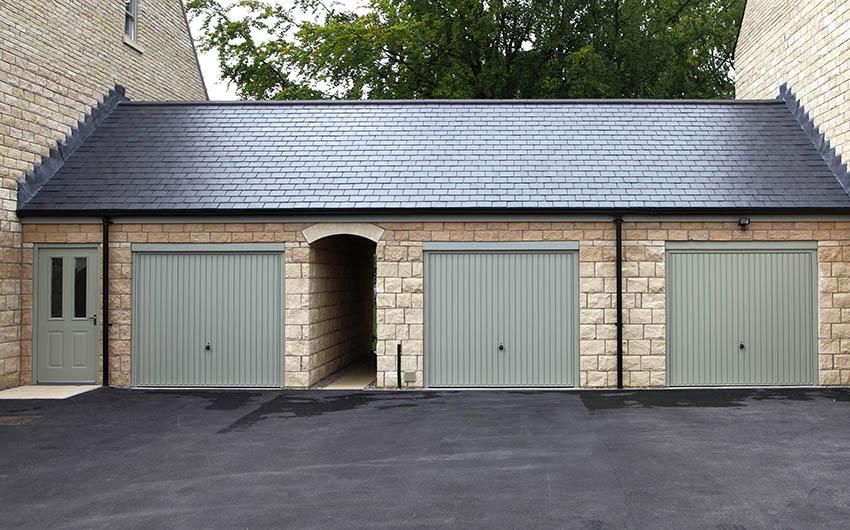 Three car garage with one door