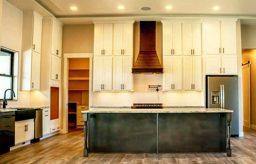 Traditional kitchen and pantry interior