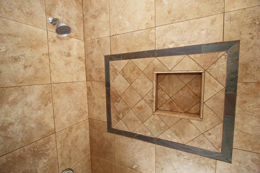 Travertine shower tiles