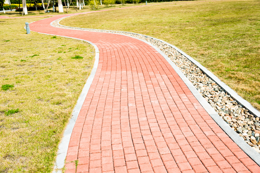 Walkway made of brick for outdoor spaces