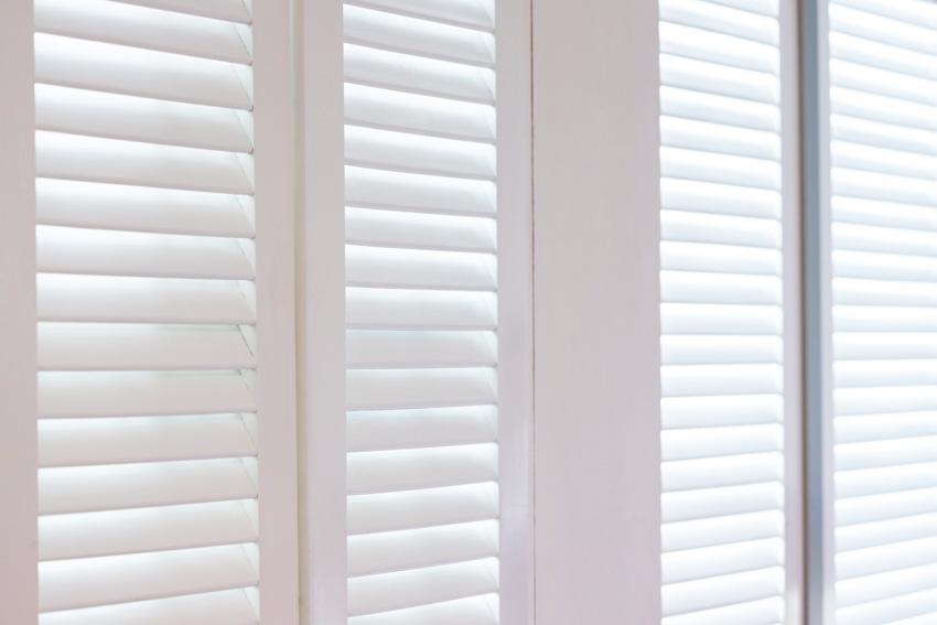 White composite window shutters