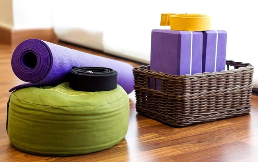 Various yoga equipment