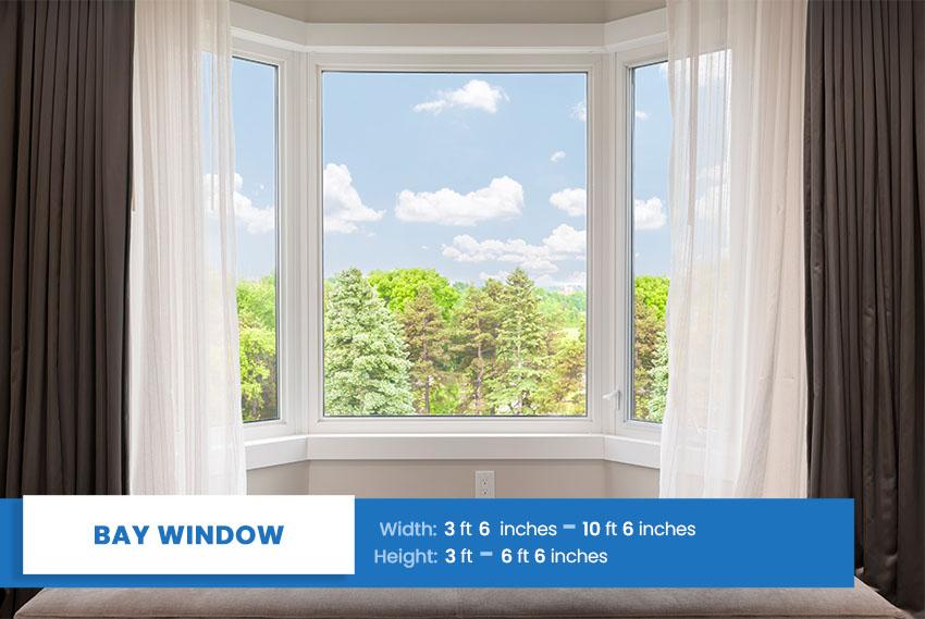 Bay window size