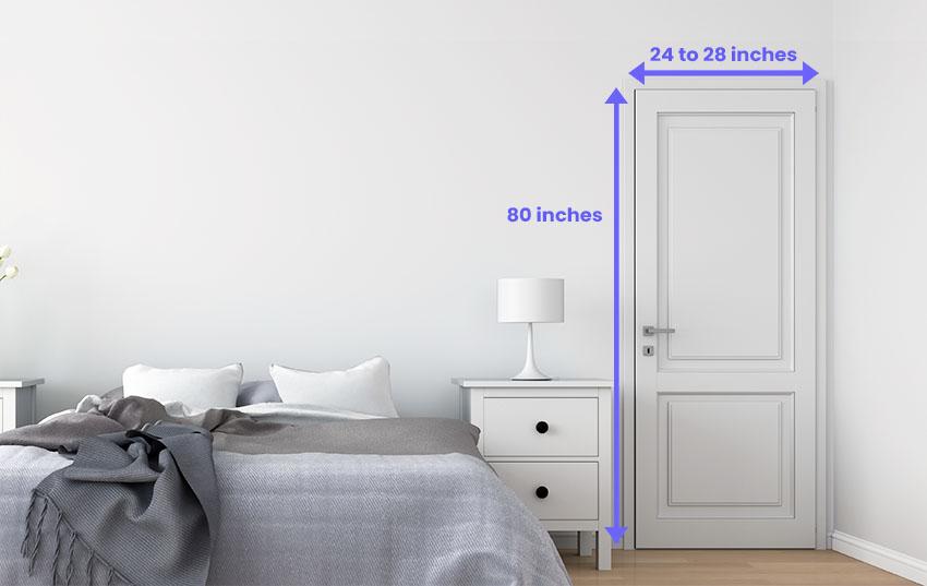 Bedroom door dimensions