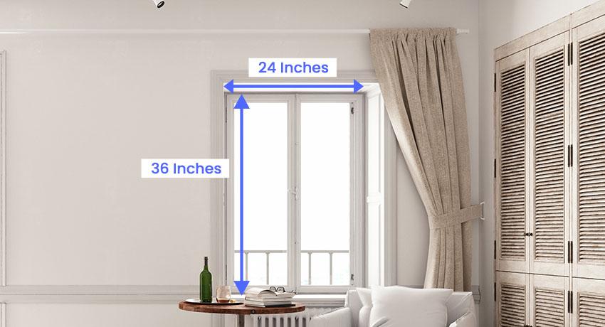 Minimum window size
