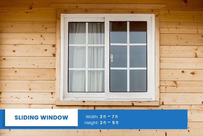Sliding window size