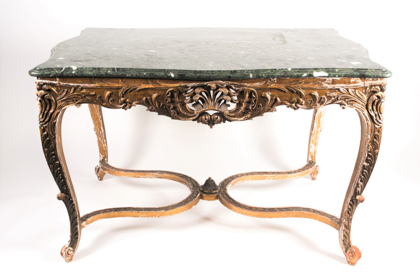 Antique table with cabriole legs