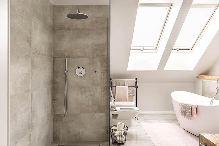Bathroom shower waterproof plaster walls