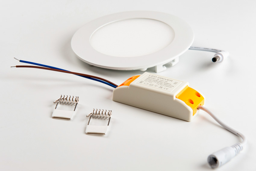 Canless recessed lighting disassembled