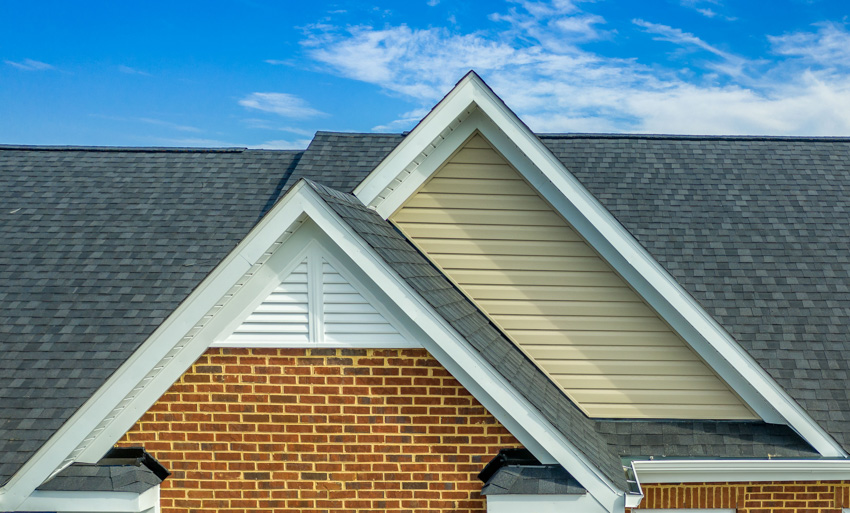 Double pitched shingle roof