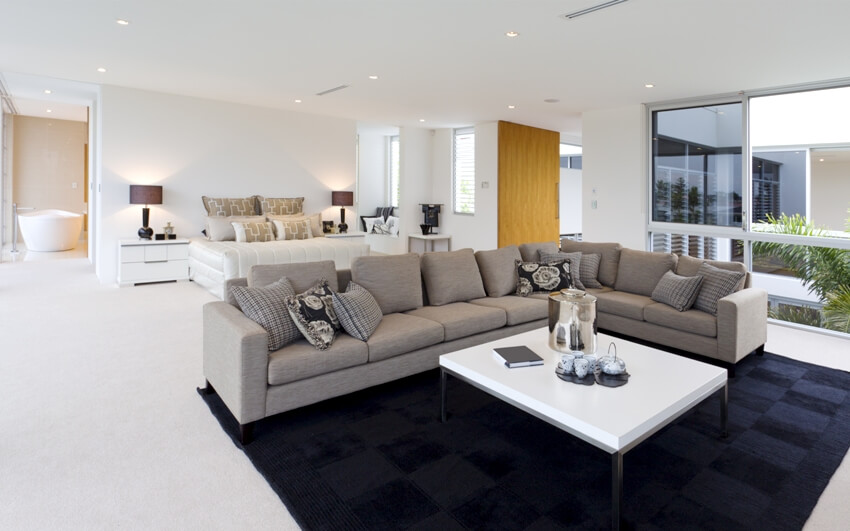 Luxurious master suite with stunning living area