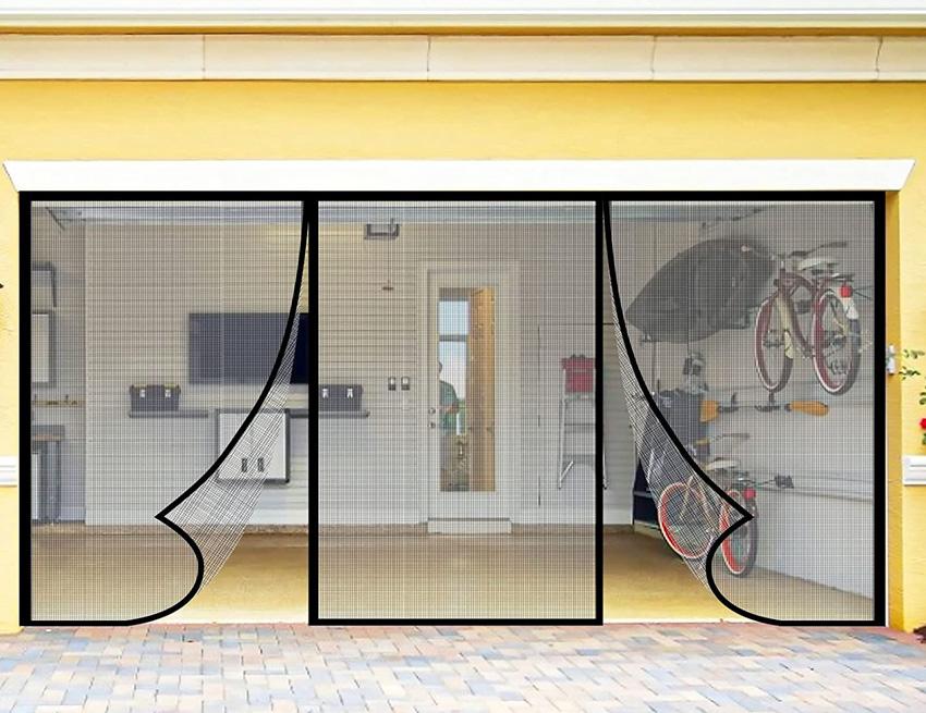 Magnetic garage door screen