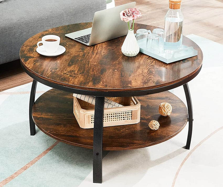 Round coffee table spider legs