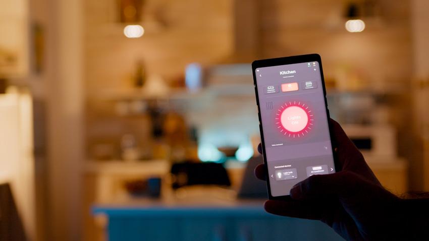 Smart system for lighting fixtures smartphone