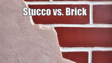 Stucco vs Brick