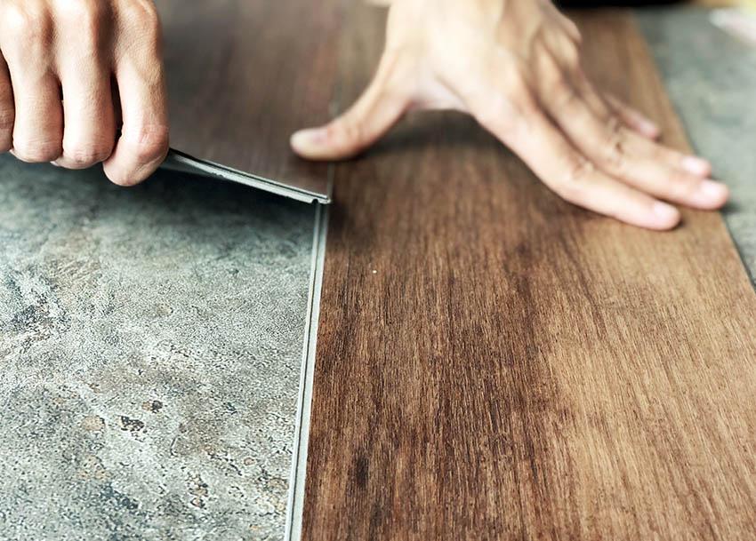 Vinyl flooring with attached underlayment